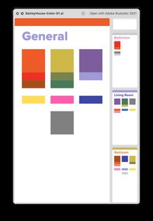 Battey House Color Scheme by Hannah Suzanna