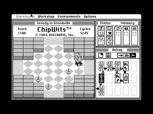 Apple Macintosh Longplay - ChipWits - Greedy in Greedville