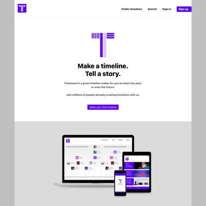 Timetoast timeline maker | Timetoast timelines