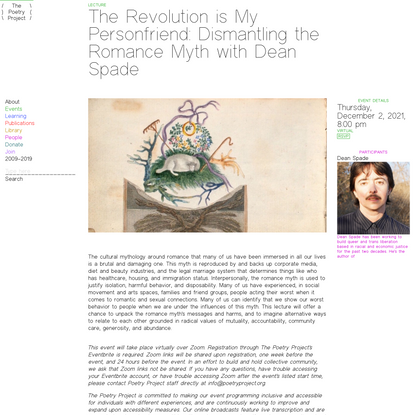 The Revolution is My Personfriend: Dismantling the Romance Myth with Dean Spade