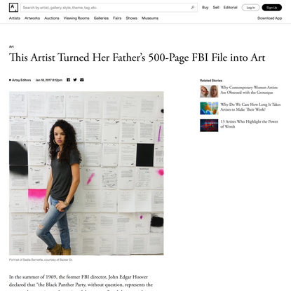 This Artist Turned Her Father's 500-Page FBI File into Art