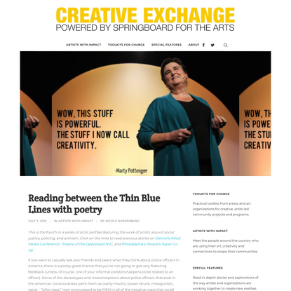 Reading between the Thin Blue Lines with poetry - Creative Exchange