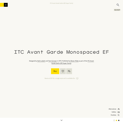 ITC Avant Garde Monospaced EF Font