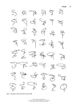 Hieroglyphs by Nancy Stark Smith, December 1988