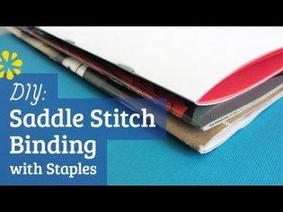 DIY Staple Saddle Stitch Bookbinding Tutorial   Sea Lemon