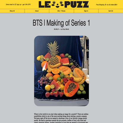 BTS   Making of Series 1