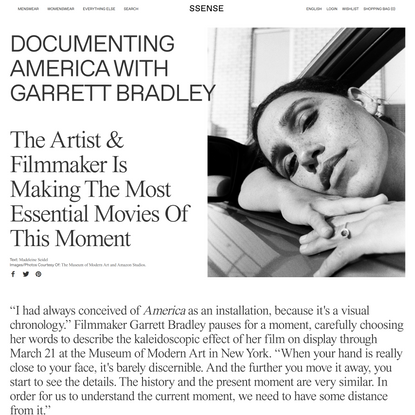 Documenting America With Garrett Bradley