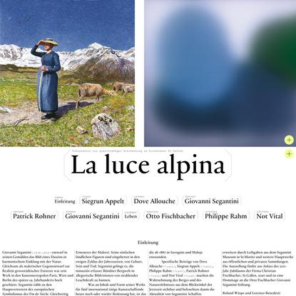 La luce alpina