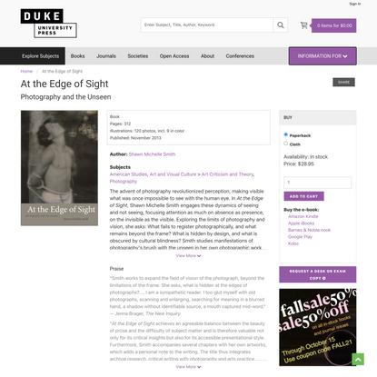 Duke University Press - At the Edge of Sight