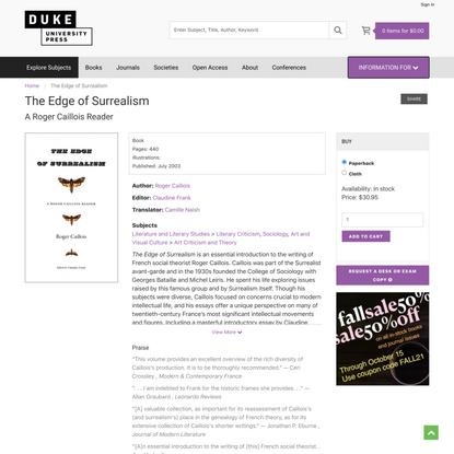 Duke University Press - The Edge of Surrealism