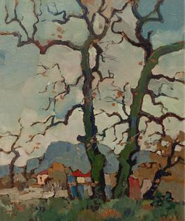 Bare oaks, Newlands, late autumn, 1968   Gregoire Boonzaier