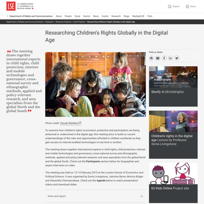Researching Children's Rights Globally in the Digital Age