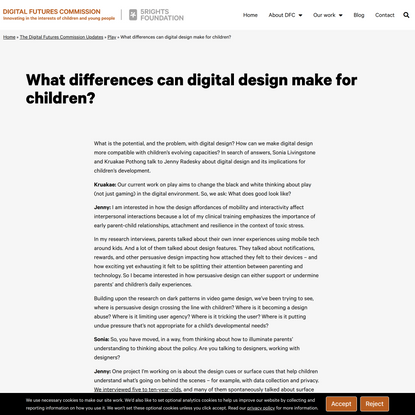 What differences can digital design make for children? – 5Rights | Digital Futures Commision
