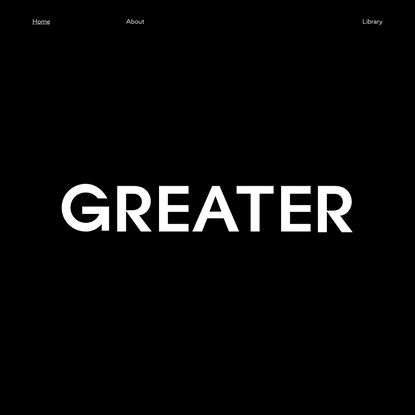 Where It's Greater