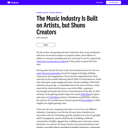 The Music Industry Is Built on Artists, but Shuns Creators - Future