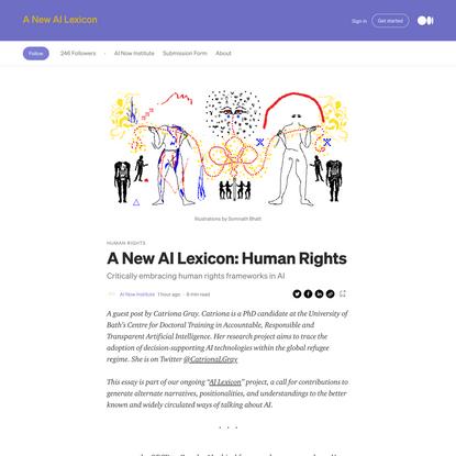 A New AI Lexicon: Human Rights