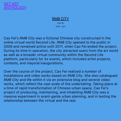 NET ART ANTHOLOGY: RMB City