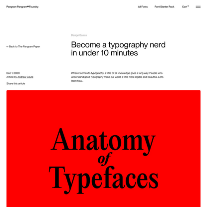 Become a typography nerd in under 10 minutes – Pangram Pangram Foundry
