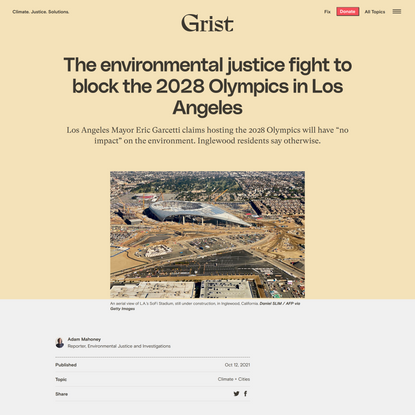 The environmental justice fight behind Los Angeles' 2028 Olympics