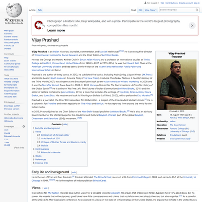 Vijay Prashad - Wikipedia