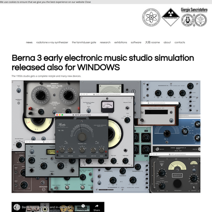 Berna3 1950s early electronic music studio simulation