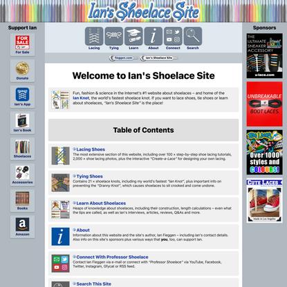Ian's Shoelace Site – Introduction
