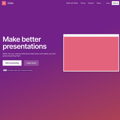 Slides – Create and share presentations online