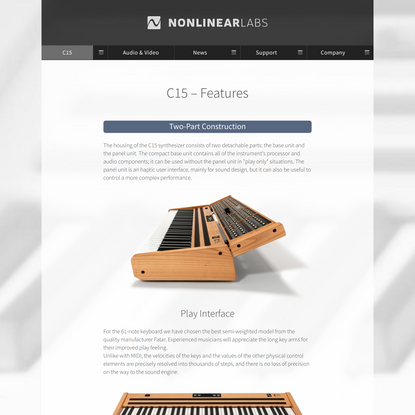 NONLINEAR LABS - C15 Features