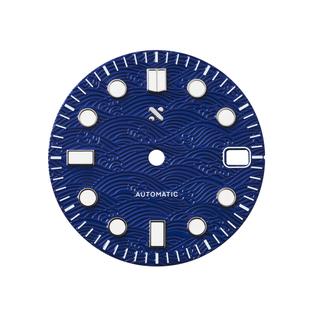 Namoki 80054 Great Blue Wave watch dial