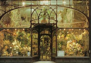 Flower-shop, Brussels, designed by Paul Hankar, XIX century.