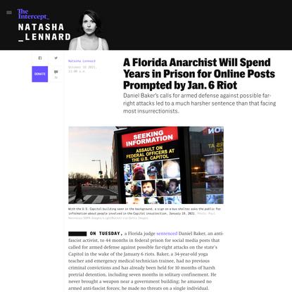 Florida Anarchist Imprisoned for Online Posts Prompted by Jan. 6 Riot