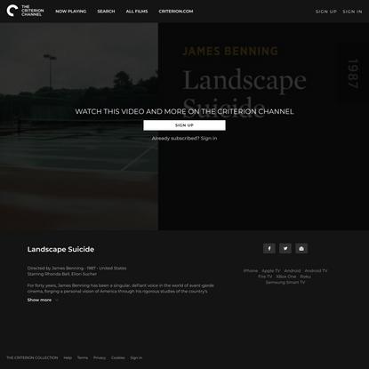 Landscape Suicide - The Criterion Channel
