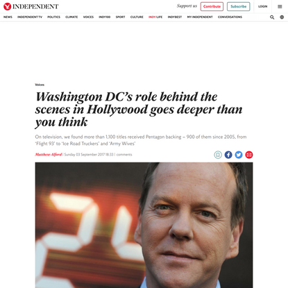 Washington DC's role behind the scenes in Hollywood goes deeper than you think