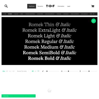 Romek | The Designers Foundry
