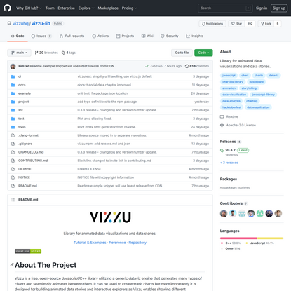 GitHub - vizzuhq/vizzu-lib: Library for animated data visualizations and data stories.