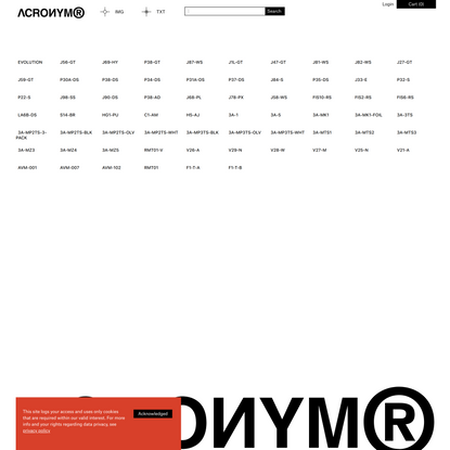 ACRONYM® GmbH. Apparel and systems design.
