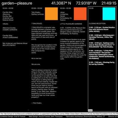 garden—pleasure