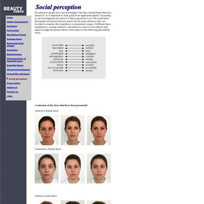 Beautycheck - social perception
