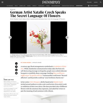 German Artist Natalie Czech Speaks The Secret Language Of Flowers