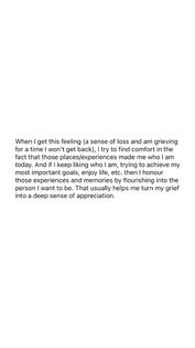 turning grief into appreciation