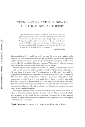 Wittgenstein and the Idea of a Critical Social Theory.pdf