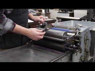 Vandercook SP-15: How to apply ink.