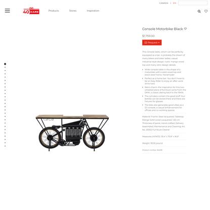 Console Motorbike Black - KARE Design