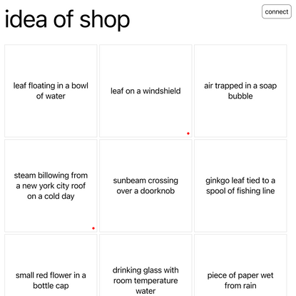 Idea of Shop