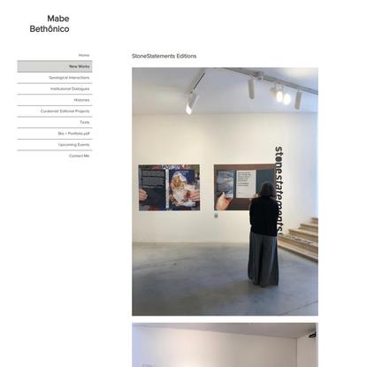 StoneStatements Editions | Mabe Bethônico