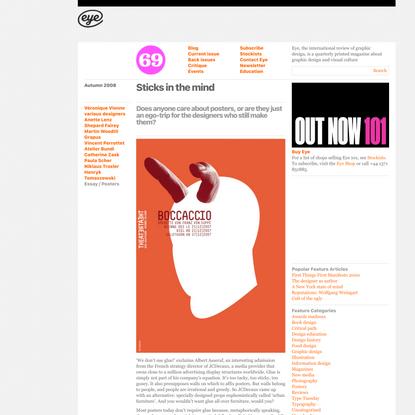 Eye Magazine | Feature | Sticks in the mind
