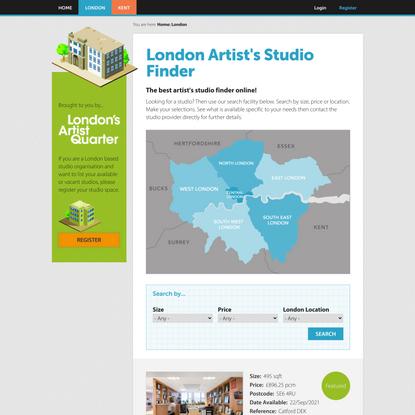 London Artist's Studio Finder | London's Artist Studio Finder