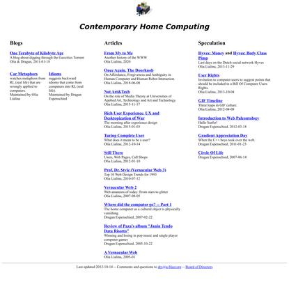 Contemporary Home Computing