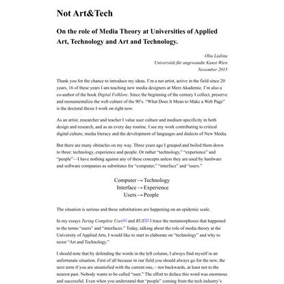 Not Art&Tech