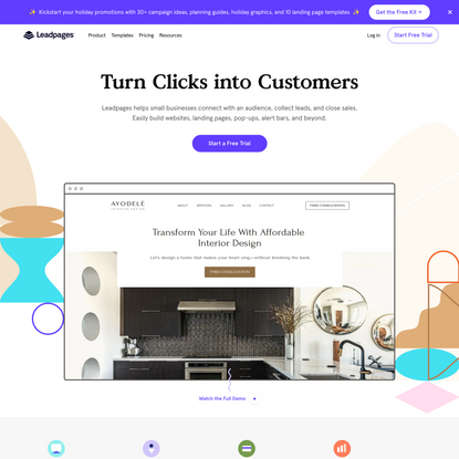 Leadpages | Website & Landing Page Software Small Businesses